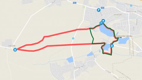 Nová trasa Hostivice RUN pro desítku a půlmaraton